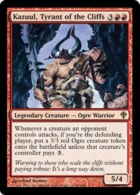 MTG - Kazuul, Tyrant of the Cliffs x 2 - NM - Worldwake - 6 lots available