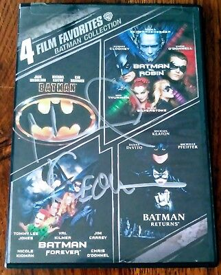 "Michael Keaton ""autographed Hand Signed"" Batman Dvd Collection"