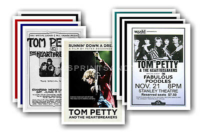 TOM PETTY - 10 promotional posters - collectable postcard set # 2