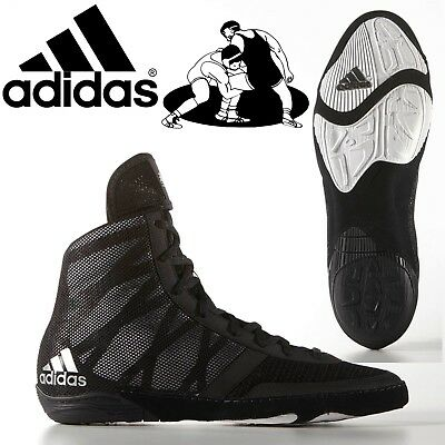 Adidas Pretereo III Mens Lightweight Lace Up Hi Top Wrestling Boots Shoes Black