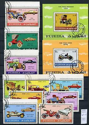 265176 FUJEIRA 1971 year used stamps set+2S/S CARS