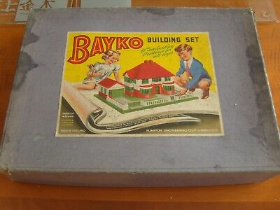 1950's BAYKO Building Set number 2 100% complete boxed with instructions