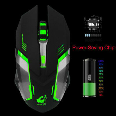 X7 Rechargeable Wireless Gaming Mouse LED Light USB Optical Ergonomic Mouse Mice