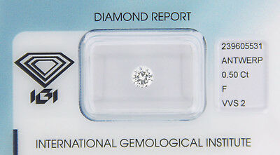 Diamond 0,50ct F VVS 2