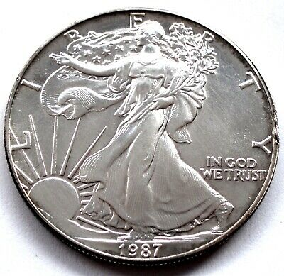 Us American Eagle Bullion Silver Dollar 1987 A2.3