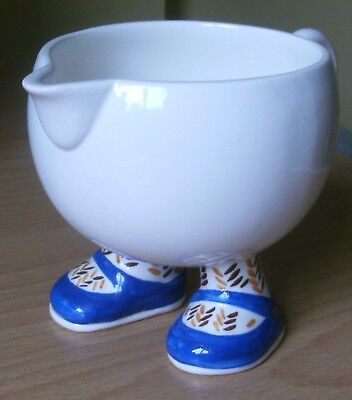 Carlton Ware Pottery Walking Ware Jug With Blue Shoes