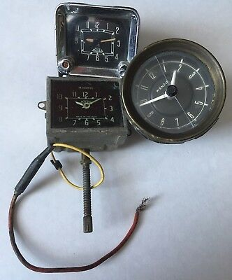 Joblot Of  Classic Car Dashboard Clocks