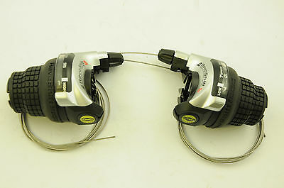 Pair Shimano Bike Rs41-7 Revoshift 21Spd Index Cycle Twistgrip Gear Gripshifters