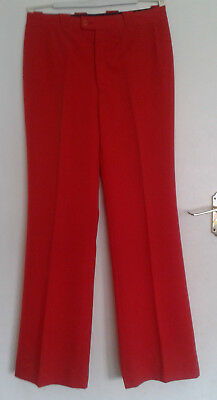 """Vintage Arvel red wool mix wide leg trousers 30"""" waist 42"""" hips"""