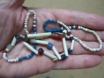 "23"" Strand Authentic Historic Period Beads Found Near Brodhead, Green Co. Wisc."