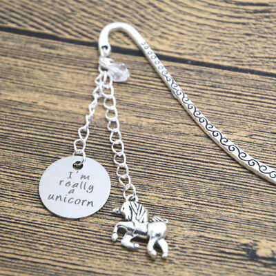 I'm Really A Unicorn Charms Silver Bookmark In Gift Bag Ladies Girls