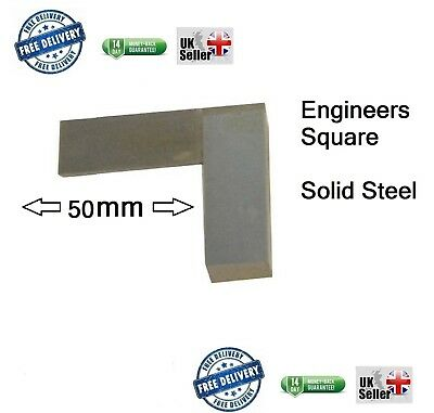 "Engineers Square, Set, Metal, Steel, approx 50mm 2"" small pocket size +/- 2mm"