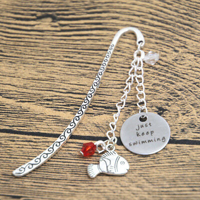 Just Keep Swimming Charms Silver Bookmark Finding Nemo Dory In Gift Bag