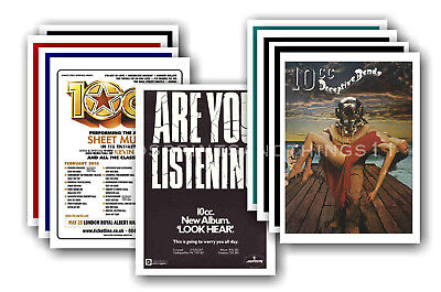 10 CC - 10 promotional posters  collectable postcard set # 1