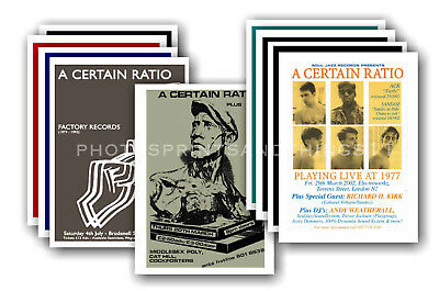 A CERTAIN RATIO - 10 promotional posters  collectable postcard set # 1