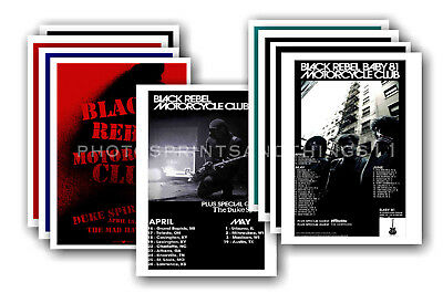 BLACK REBEL MOTORCYCLE CLUB 10 promotional posters  collectable postcard set # 1