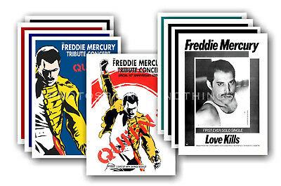 FREDDIE MERCURY - 10 promotional posters  collectable postcard set # 1