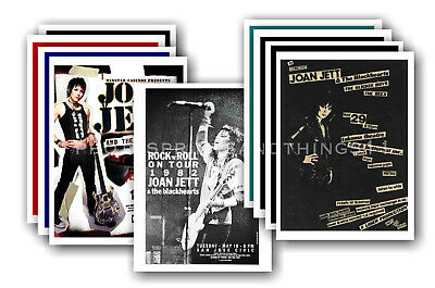 JOAN JETT - 10 promotional posters  collectable postcard set # 1
