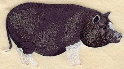 Embroidered Sweatshirt - Potbelly Pig A6654