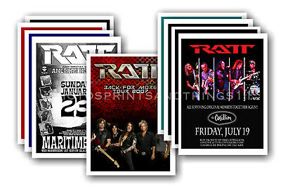 RATT - 10 promotional posters  collectable postcard set # 1