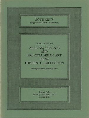 SOTHEBY'S OCEANIC AFRICAN PRE-COLUMBIAN AMERICAN INDIAN Pinto Coll Catalog 77
