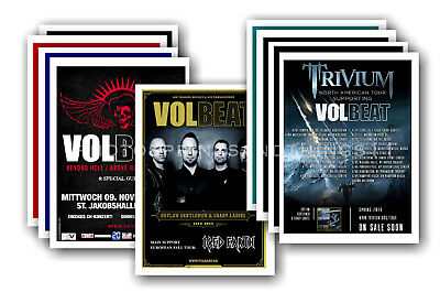 VOLBEAT - 10 promotional posters  collectable postcard set # 1