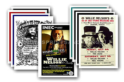 WILLIE NELSON - 10 promotional posters  collectable postcard set # 1