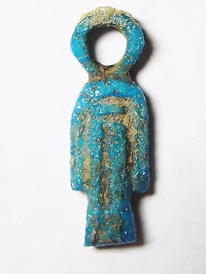 Zurqieh- Af543- Ancient Egypt, 18Th Dynasty, Fainece Amulet Isis Knot. 1400 B.c