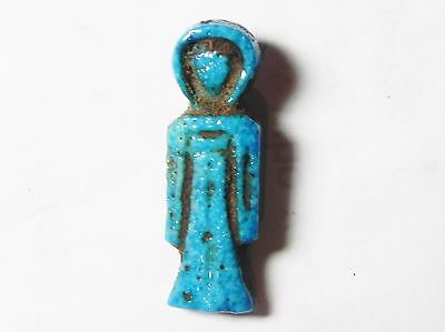 Zurqieh- Af549- Ancient Egypt, 18Th Dynasty, Fainece Amulet Isis Knot. 1400 B.c