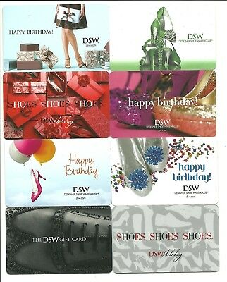 Lot of 8 DSW Gift Cards No$ Value Collectible Designer Shoe Warehouse High Heels