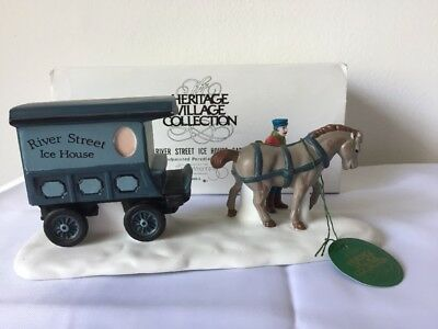 The Heritage Village Collection River Street Ice House Cart Dept 56 No 59595