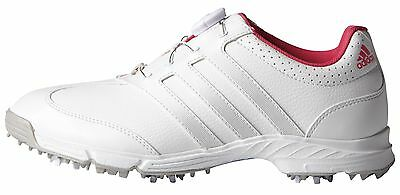 Adidas Women's response BOA Golf Shoes F33310 Size 9 White/Silver/Pink