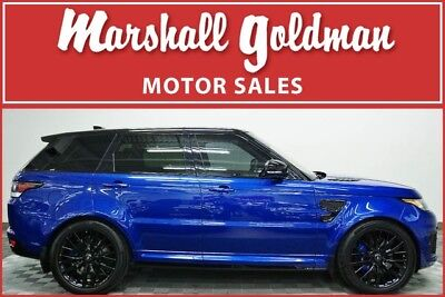 2017 Land Rover Range Rover Sport  2017 Range Rover Sport SVR in Estoril Blue over Ebony leather only 4,700 miles