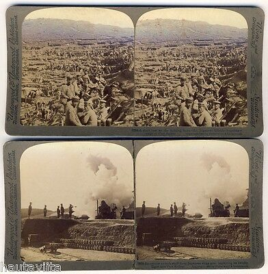 1904 Russia Japanese War Siege Fort Port Arthur Russia Underwood Stereo Photos