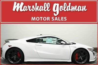 2017 Acura NSX Base Coupe 2-Door 2017 Acura NSX 130R White w/Red leather  Alcantara interior only 62 miles
