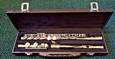 """A Good Ff 26½"""" Long Flute In Case"""