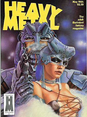 Heavy Metal May 1984 Heavy Metal Communications Copper Age Nm- Painted Cover