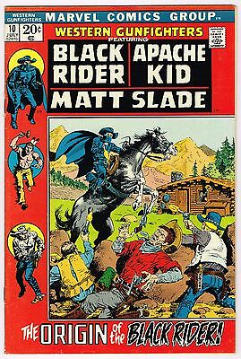 Western Gunfighters #20 Black Rider Apache Kid Marvel Comics Bronze 1972 Vf+