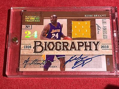 KOBE BRYANT 2009-10 NATIONAL TREASURES Biography #1 AUTOGRAPH 02/25 AUTO RARE