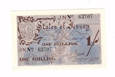 Jersey, German Occupation  1/-  Banknote, Unc, Absolutely Mint, Superb