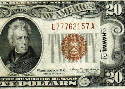 $20 1935A **HAWAII**  Federal Reserve Note  **MORE CURRENCY FOR SALE**