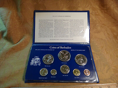 1975 Coins Of Barbados Uncirculated Franklin Mint Coin Set - Free S&H USA