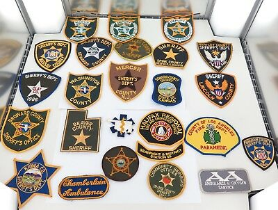 Superb Job Lot Usa / American Police / Emergency Services Cloth Patches.