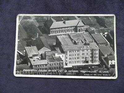 Vintage Irish Postcard Presentation College Our Lady Of Victories, Mountmellick
