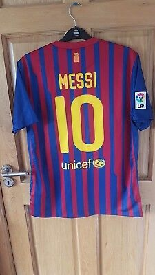 Messi Barcelona Number 9 Shirt 2011-12 Home Shirt Size Large