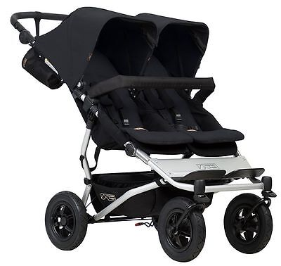 Mountain Buggy Duet Compact All Terrain Twin Baby Double Stroller Black NEW