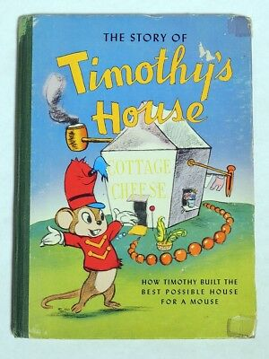 M165 Vintage Walt Disney The Story of Timothy's House Book from DUMBO (1941) [