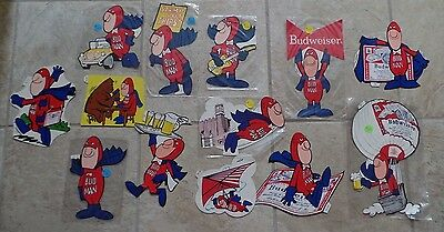 Budweiser Vintage 1980's Bud Man Stickers Your Choice from Several Styles New