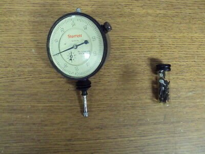 """Starrett 655-441 Dial Indicator Jeweled .001"""" WithExtra Contact Points"""