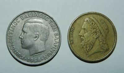 Greece : 2 Old Coins - Attractive Designs
